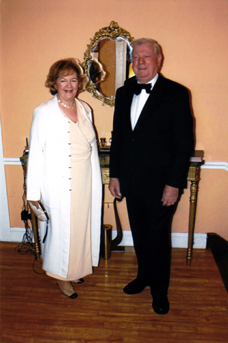 Louise and I attending a Masonic Dinner, Cork. 2009