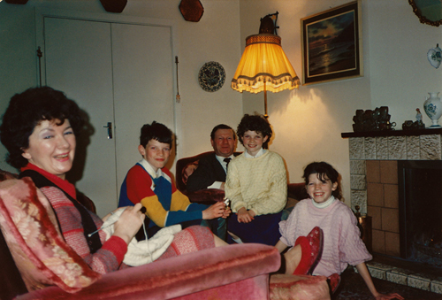 At home in Ballina, Co. Mayo c1984