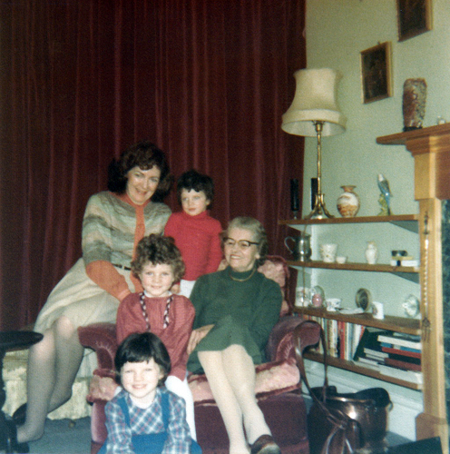 Louise and children in our Mill Hill home. Circa 1980